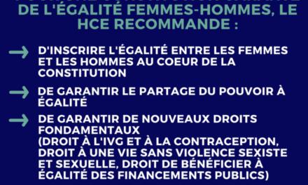 Révision constitutionnelle : faire de la Constitutionun texte garant de l'égalité femmes-hommes