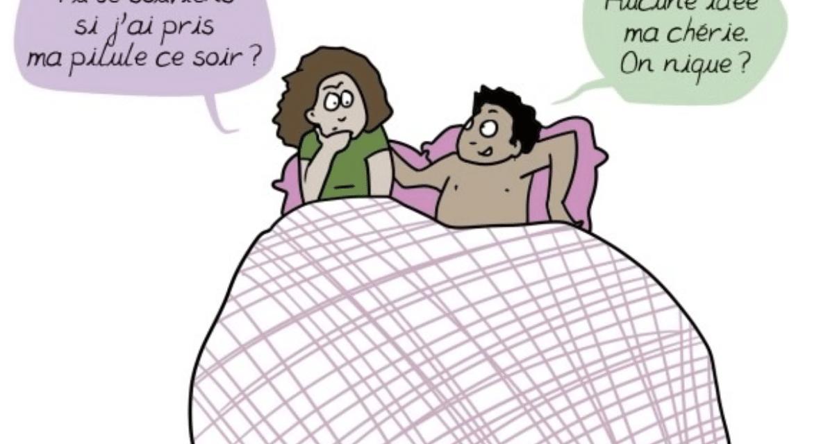 La charge mentale de la contraception illustrée par Emma