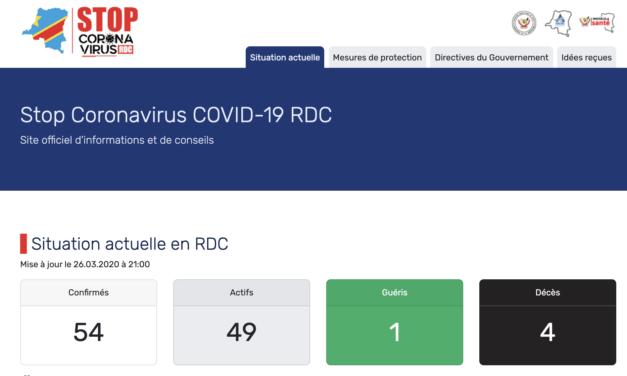 http://www.stopcoronavirus.cd      La RDC vient de lancer son site d'information officiel du COVID-19