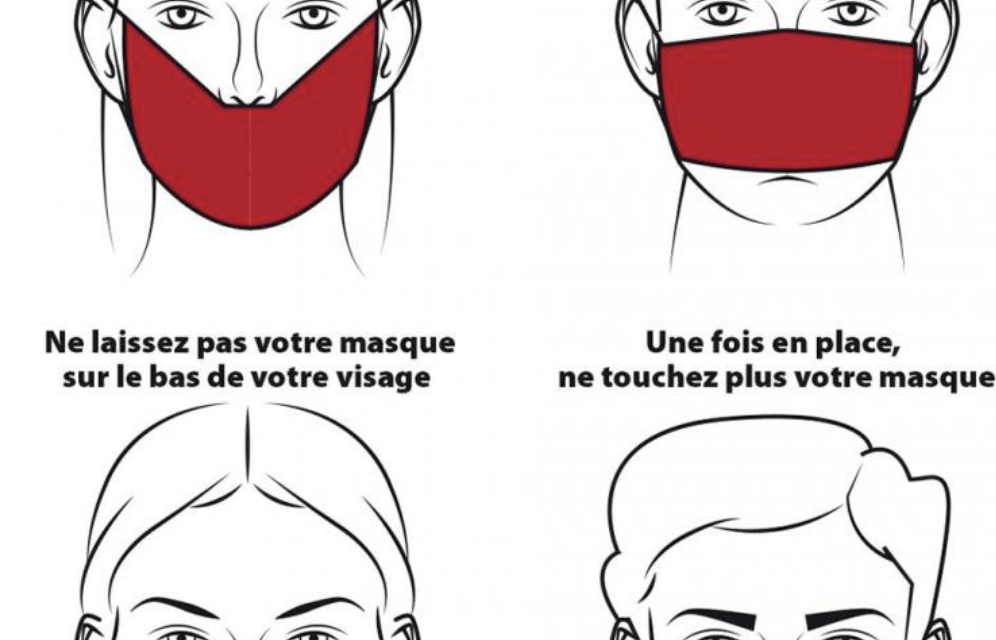 Le port du masque : les gestes à faire et à ne pas faire