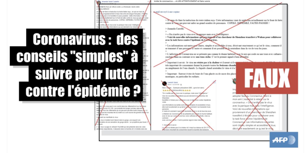 Halte à la « désinfo-démie », la dangereuse épidémie de désinformation sur le Covid-19 qui met en danger des vies