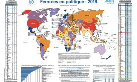 La carte des femmes en politique : la RDC en bas du classement